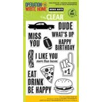 Hero Arts - Operation Write Home - Poly Clear - Clear Acrylic Stamps - Dude