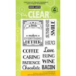 Hero Arts - Operation Write Home - Poly Clear - Clear Acrylic Stamps - A Little