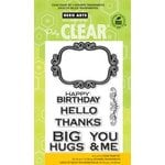 Hero Arts - Operation Write Home - Poly Clear - Clear Acrylic Stamps - Happy Birthday Scroll