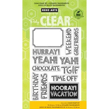 Hero Arts - Poly Clear - Clear Photopolymer Stamps - Hurray