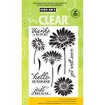 Hero Arts - Poly Clear - Clear Acrylic Stamps - Hello Sunshine Daisies