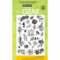 Hero Arts - Poly Clear - Clear Photopolymer Stamps - Flower Garden