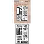 Hero Arts - BasicGrey - Grand Bazaar Collection - Poly Clear - Clear Acrylic Stamps - You Make Me Smile