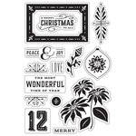Hero Arts - BasicGrey - Evergreen Collection - Christmas - Clear Acrylic Stamps - Peace and Joy Christmas