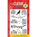 Hero Arts - Poly Clear - Christmas - Clear Acrylic Stamps - Bird and Branch Christmas