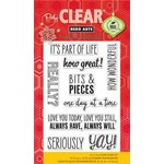 Hero Arts - Poly Clear - Clear Acrylic Stamps - Bits and Pieces