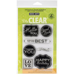 Hero Arts - Poly Clear - Clear Photopolymer Stamps - Chalkboard Style Messages