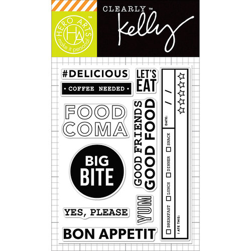 Hero Arts - Kelly Purkey Collection - Clear Photopolymer Stamps - Food Coma