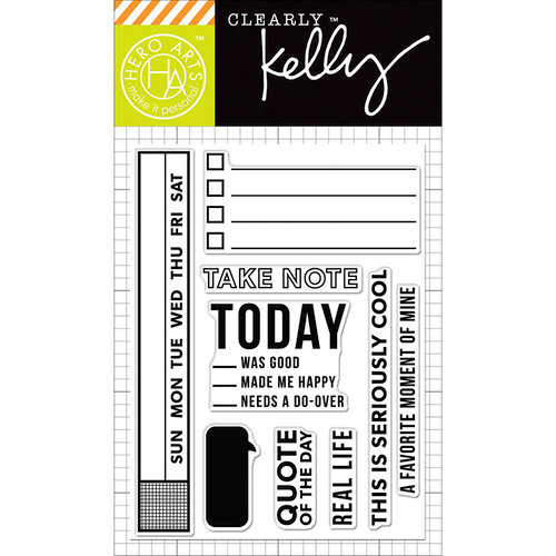 Hero Arts - Kelly Purkey Collection - Clear Photopolymer Stamps - Take Note
