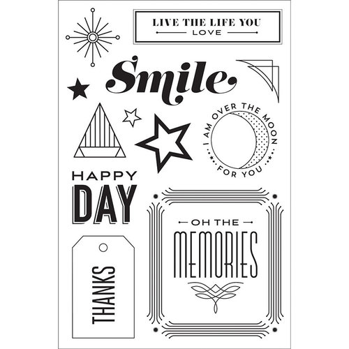 Hero Arts - BasicGrey - Clear Photopolymer Stamps - Happy Day