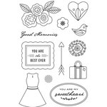 Hero Arts - BasicGrey - JAdore Collection - Clear Photopolymer Stamps - Good Memories