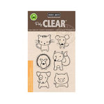 Hero Arts - Poly Clear - Clear Acrylic Stamps - Playful Animals