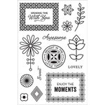 Hero Arts - BasicGrey - Prism Collection - Clear Photopolymer Stamps - Spending Time With You