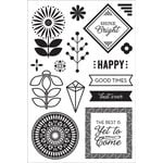 Hero Arts - BasicGrey - Prism Collection - Clear Acrylic Stamps - Shine Bright