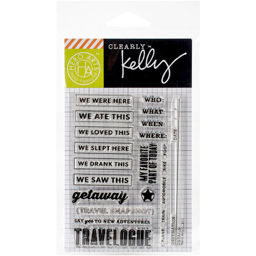 Hero Arts - Kelly Purkey Collection - Clear Photopolymer Stamps - New Adventures