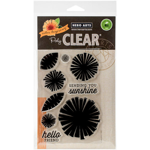 Hero Arts - Clear Photopolymer Stamps - Color Layering Graphic Flowers