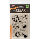 Hero Arts - Clear Acrylic Stamps - Color Layering Happy Day Flowers