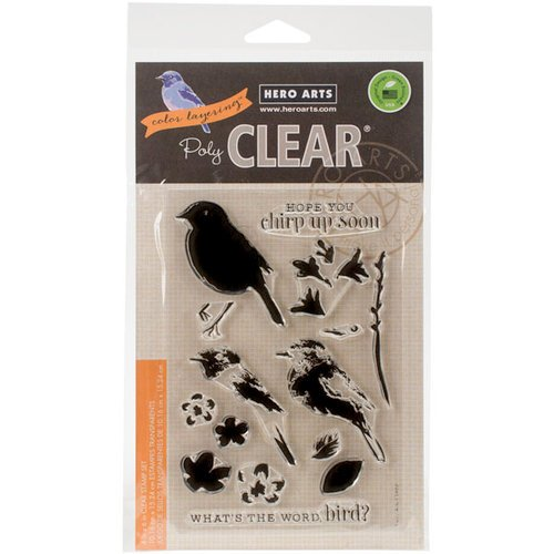Hero Arts - Clear Photopolymer Stamps - Color Layering Bird and Branch