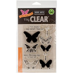 Hero Arts - Clear Acrylic Stamps - Color Layering Butterflies