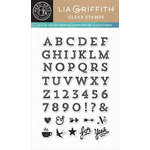 Hero Arts - Lia Griffith Collection - Clear Acrylic Stamps - Vaulted Letters