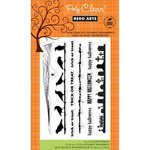 Hero Arts - Clings - Repositionable Rubber Stamps - Halloween Borders