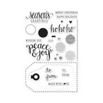 Hero Arts - Poly Clear - Christmas - Clear Acrylic Stamps - Peace and Joy