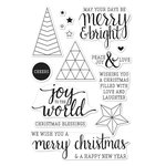 Hero Arts - Poly Clear - Christmas - Clear Acrylic Stamps - Joy To The World