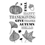 Hero Arts - Poly Clear - Clear Acrylic Stamps - Autumn