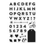 Hero Arts - Poly Clear - Clear Photopolymer Stamps - Bold Letter Set