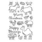 Hero Arts - Poly Clear - Christmas - Clear Acrylic Stamps - Animal Blessings