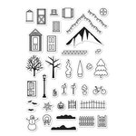 Hero Arts - Poly Clear - Clear Photopolymer Stamps - 3D House Essentials