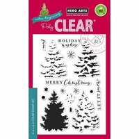 Hero Arts - Poly Clear - Christmas - Clear Photopolymer Stamps - Color Layering Christmas Tree