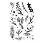 Hero Arts - Poly Clear - Christmas - Clear Photopolymer Stamps - Holiday Pine Branches