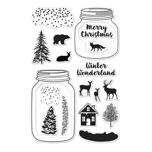 Hero Arts - Poly Clear - Christmas - Clear Photopolymer Stamps - Winter Scene