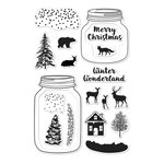 Hero Arts - Poly Clear - Christmas - Clear Acrylic Stamps - Winter Scene
