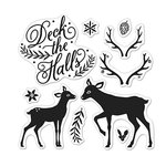 Hero Arts - Lia Griffith Collection - Christmas - Clear Acrylic Stamps - Deck The Halls