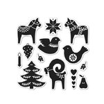 Hero Arts - Lia Griffith Collection - Christmas - Clear Acrylic Stamps - Scandinavian Holiday