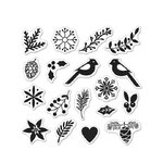 Hero Arts - Lia Griffith Collection - Christmas - Clear Acrylic Stamps - Build a Wreath