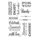 Hero Arts - Lia Griffith Collection - Clear Acrylic Stamps - Cheers Messages