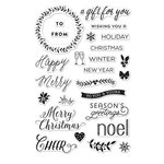 Hero Arts - Lia Griffith Collection - Christmas - Clear Acrylic Stamps - Happy Merry Messages