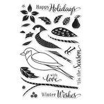 Hero Arts - Poly Clear - Christmas - Clear Acrylic Stamps - Color Layering Dimensional Bird