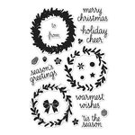 Hero Arts - Poly Clear - Christmas - Clear Photopolymer Stamps - Color Layering Wreath