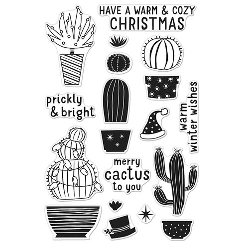 Hero Arts - Poly Clear - Christmas - Clear Acrylic Stamps - Merry Cactus To You