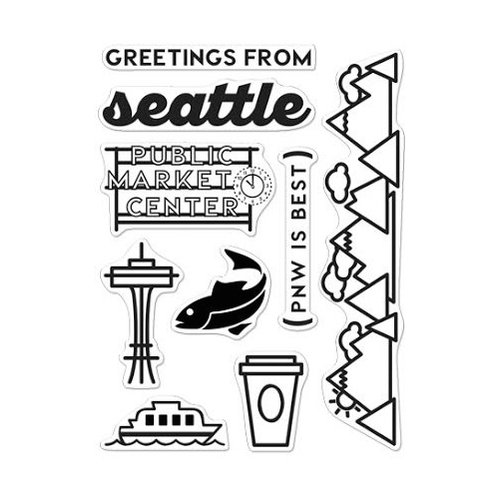 Hero Arts - Destination Collection - Destination - Clear Photopolymer Stamps - Seattle