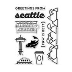 Hero Arts - Destination Collection - Destination - Clear Acrylic Stamps - Seattle