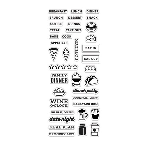 Hero Arts - Kelly Purkey Collection - Clear Photopolymer Stamps - Food Planner