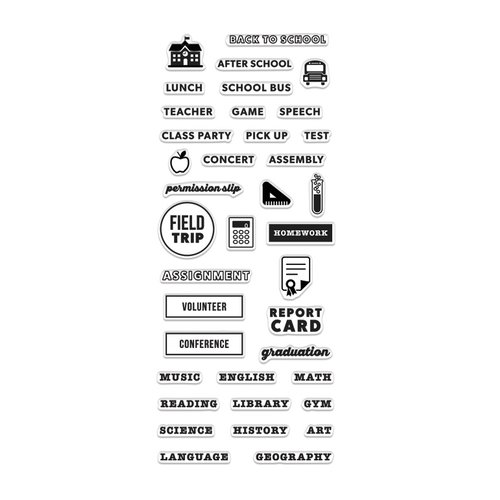 Hero Arts - Kelly Purkey Collection - Clear Acrylic Stamps - School Planner