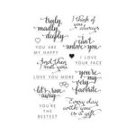 Hero Arts - 2016 Valentines Collection - Poly Clear - Clear Photopolymer Stamps - You Are My Happy