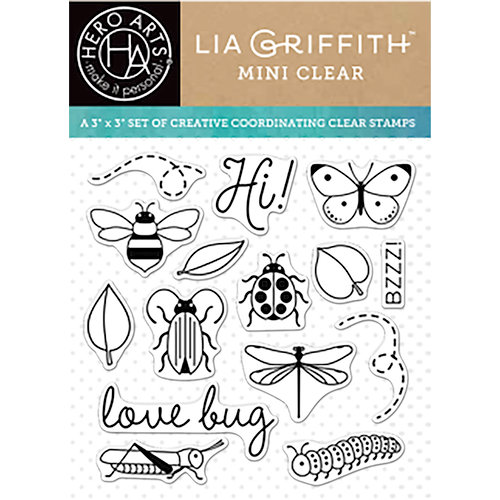 Hero Arts - Lia Griffith Collection - Clear Acrylic Stamps - Love Bug