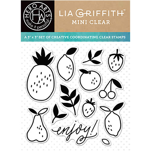 Hero Arts - Lia Griffith Collection - Clear Acrylic Stamps - Enjoy Fruit